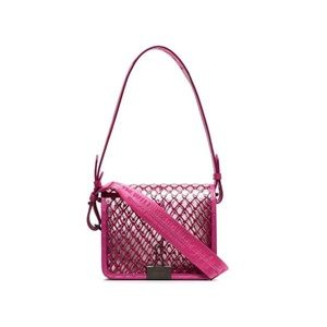 OFF WHITE 'Pink Netted Crossbody Bag'